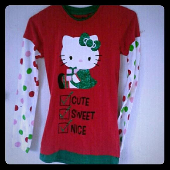 c6a35936 Hello Kitty Tops | Christmas Shirt Miss 34 | Poshmark